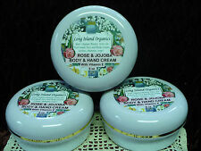 ROSE-JOJOBA BODY & HAND  Rich CREAM  2oz - LONG*ISLAND*ORGANICS