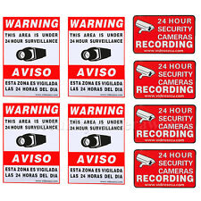 8 CCTV Security Camera Video Warning Sticker Sign Decal Home Surveillance b0j