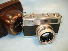 Vintage MINOLTA HI-MATIC 7 35mm CAMERA w/ Leather Case