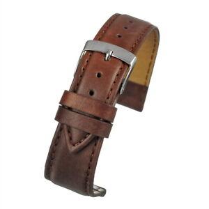 Mens 20mm brown vegan watch strap watch band