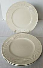 "THREE Mikasa Italian Countryside Dinner Plates 11-1/8"" Cream Ribbed Scrolls"