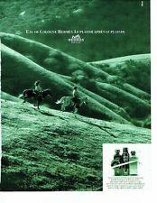 PUBLICITE ADVERTISING 017  1990  eau Cologne par Hermès le plaisir