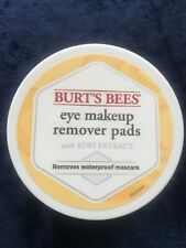 BURT'S BEES Eye Makeup Remover Pads Kiwi Extract/ 99.5% NATURAL- No Fragrance
