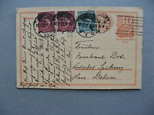 GERMANY INFLATION, uprated revalued prestamped PC (card) 10-07-1922, total 1,50