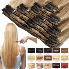 Salon Doppel Weft Clip in 8Tresse Extensions 100% Echthaar Haarverlängerung DEF7