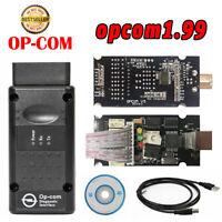 V1.99! OPEL OP COM Vauxhall OBD2 Diagnostic Code Reader Scanner Tool OPCOM #E