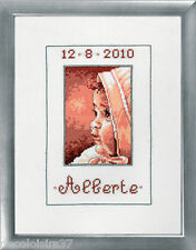 Permin Kit Broderie Point de Croix Compté - Tableau de Naissance Fille  92-8361