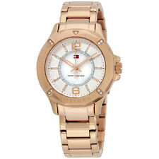 Tommy Hilfiger 1781634 Women's Liv Crystal Pave White Dial Rose Gold Steel Watch