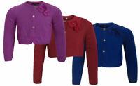 M&S Girls Blue/Purple Long Sleeve Bolero Cropped Cardigan UK 2-14Years RRP £14