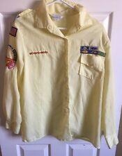 Oscar De La Renta Boy Scouts Of America Long Sleeve Women's Shirt Size 40 Yellow