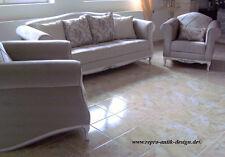 Kanapee Klassische Sofa Garnitur Louis XV Luxus Couch Set Massiv Barock Stil