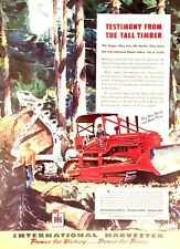 1945 WWII era- INTERNATIONAL HARVESTER Crawler Tractor- Full Color Art Print Ad