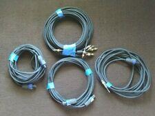 Lot Of 4 Dj Instrument Guitar Speaker Cord Cables Speakon Audio Video Cords