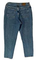 Vintage Lee High Waist Tapered Leg Mom Jeans Sz 6P 27in Waist High Rise Denim