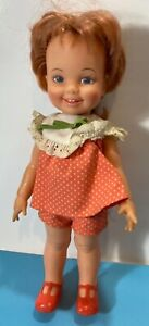 Vintage 1972 Ideal Doll Cinnamon w/ Grow Hair & orig. Outfit & Shoes Red hair