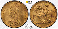 More details for 1889 s gold sovereign ms62 pcgs australia sydney
