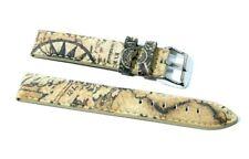 Cinturino orologio vera pelle imbottito ansa 20mm tipo alviero martini 1° classe