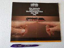 CATALOGO MARKLIN MINI-CLUB 1981 CATALOG