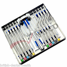 NEW Bone Osteotome Sinus Lift Tools Kit Concave Mead Mallet Implant Dentistry CE