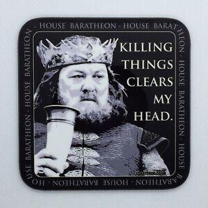KILLING THINGS - Game of Thrones Coaster / Bar Mat - Sturdy, Gloss, Original