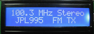 FM EXCITER STEREO PLL TRANSMITTER 1 WATT 87.5 - 108.5 Mhz BROADCAST NEW