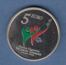 Irlanda colorierte 5 euro-CN moneda olimpiadas especiales 2003