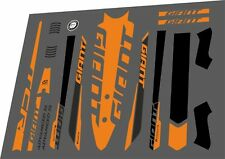 GIANT TCR Advanced SL 2016 Frame Sticker Factory Decal Adhesive Vinyl Set Orange