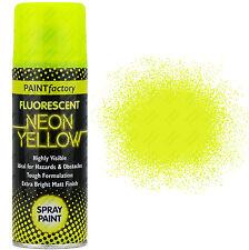 6 x Fluorescent NEON JAUNE spray peinture Mat 200ml voiture Créatif Peinture
