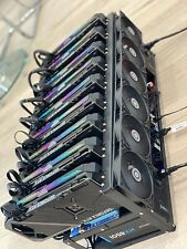 More details for brand new mining rig x9 gpu rtx 3070 564 mh/s. deposit only. read description.