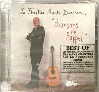 MAXIME LE FORESTIER chante BRASSENS : CHANSONS DE RAPPEL - [ CD ALBUM NEUF ]