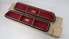 NOS ORIGINAL GM 1969 CAMARO STD TAIL LIGHT LENS SET 5961568 & 5961567 IN THE BOX