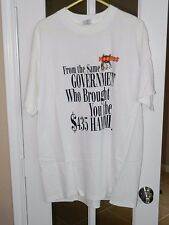 """HOOTERS GIRL AS A MAN """"XL"""" WHITE T-SHIRT """"NEW"""" DELTA - FROM THE GOVERNMENT"""