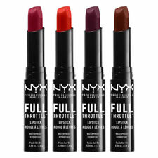 NYX Full Throttle Lipstick ~ Choose From 11 Sealed Shades