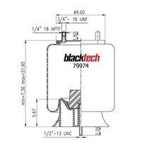 """BlackTech Air Springs W01-358-9974 / 67586 """"Best Warranty"""""""