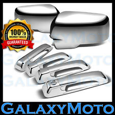 13-16 Dodge Ram Chrome Mirror w/Light Signal hole+ 4 Door Handle Cover Combo