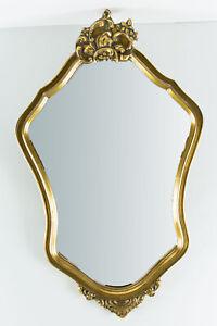 Unbekannter Künstler. Vergoldeter Spiegel im Stil Mitte 19. Jahrhunderts.