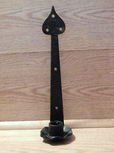 Vintage Cast Iron Wall Candle Holder Spade Tip