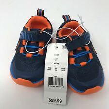 Surprize by Stride Rite Little Boys Size 5 Sneakers Shoes Blue and Orange New