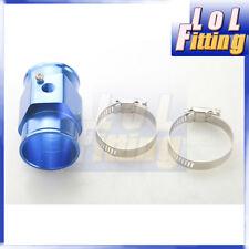 42mm Water Temperature Joint Pipe Sensor Gauge Radiator Hose Adapter Kit Blue