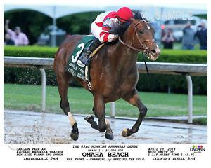 OMAHA BEACH ARKANSAS DERBY 2019 PHOTO 10 X 8