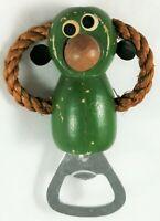 Monkey Figurine Bottle Opener Vintage Bar Home Metal Wood Kitchen Bar Décor Gift