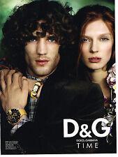 PUBLICITE ADVERTISING 094  2008  DOLCE & GABBANA  collection montres