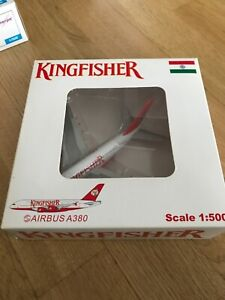 Like Herpa 1:500 Airbus A380 Kingfisher India