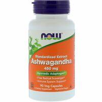 Now Foods, Ashwagandha, Healthy Relax Calm Genuine 450 mg, 90 Veg Capsules