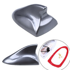 Gray Car Roof Shark Fin Antenna Cover Amplifier Radio Signal Aerial Accessories