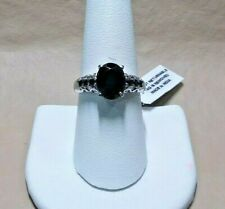 THAI BLACK SPINEL STAINLESS STEEL  RING- ----SIZE  8- --3.30 ctw