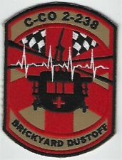 US ARMY C-CO 2-238 AVN PATCH- 'BRICKYARD DUSTOFF'                          COLOR