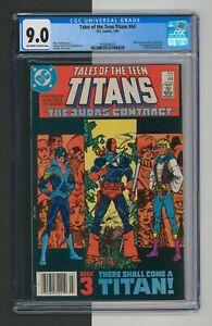 Tales of the Teen Titans #44, CGC 9.0, Dick Grayson = Nightwing, DC Comics 1984