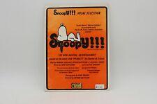 Snoopy Vocali Selezione Songbook 1976 Schulz Peanuts, Vintage NOS