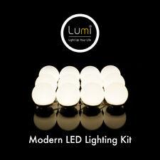 Crystal Vision LUMI Vanity Makeup Mirror Light Kit Hollywood Style Warm White